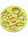 Mare cochilii de vară plajă cupcake decorare silicon fondant mucegai sugarcraft instrumente polimer lut ciocolată culoare aleatoriu