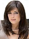 cor mix capless comprimento longo de alta qualidade peruca sintetica cabelos lisos natural com estrondo lado