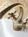Centerset melangeurs un trou en bronze antique salle de bains robinet d\'evier