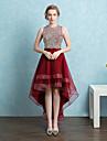 Rochie de bal bijuterii gât asimetrice de satin rochie rochie de bal homecoming cu ciorapi