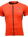 SPAKCT® Cykeltröja Herr Kort ärm Cykel Andningsfunktion / Snabb tork / Reflexkant Överdelar 100% Polyester Klassisk / Sport Sommar / Höst
