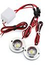 voiture 2 conduit stroboscopique ampoule urgence lumiere avertissement eclair dc 12v 5w + controleur