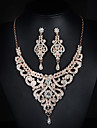 Jewelry Set Women\'s Anniversary / Wedding / Engagement /Party / Special Occasion Jewelry Sets Alloy RhinestoneNecklaces
