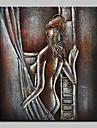 HANDMÅLAD naken olje~~POS=TRUNC,Moderna En panel Kanvas Hang målad oljemålning For Hem-dekoration