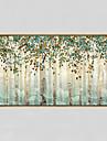Peint a la main Abstrait / A fleurs/Botanique Peintures a l\'huile,Modern Un Panneau Toile Peinture a l\'huile Hang-peint For Decoration