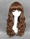 perruques de cosplay couleur brun synthetiques perruques d\'ondes bon marche pour les femmes noires perruques de mode