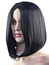 mode elegante perruques naturelles noires synthetiques courtes pour les femmes