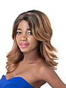 europeiska modet medel sythetic blandad brun våg parti peruk för kvinnor