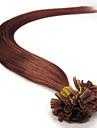 fusion precollage extension de cheveux de keratine de l\'ongle en U indien 100s de cheveux de remy vierge enchevetrement libre, aucun rejet