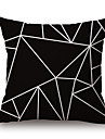 Coton/Lin Housse de coussin,Geometrique / Imprimes Photos Moderne/Contemporain / Decontracte