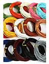 beadia 5 mts 2mm cablu de piele rotundă& sârmă& string (15 culori)