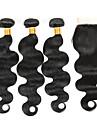 Tissages de cheveux humains Cheveux Bresiliens Ondulation naturelle 4 Pieces tissages de cheveux