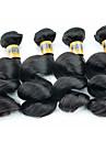 """4 st / lot 12 """"-28"""" 6a brasilianska jungfru hår löst våg människohår väft 100% obearbetat brasilianskt remy hår väver"""