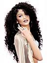 chaud! top lace front de qualite perruques 150% la densite de couleur noire naturelle crepus resistantes perruques de cheveux synthetiques