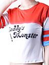 Cosplay Kostymer/Dräkter Superhjältar Film Cosplay Röd / Vit Lappverk T-shirt Halloween / Jul / Nyår Kvinna Bomull