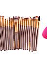 20 ensembles de brosses / Pinceau Fard a Paupieres Pinceau en Nylon Professionnel / Couvrant Plastique / Nylon Visage / OEil / Levre Autres