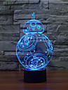 bb-8 touche de gradation 3d conduit de lumiere de nuit lampe atmosphere decoration 7colorful eclairage nouveaute lumiere de Noel
