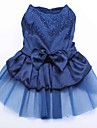 Chat / Chien Robe Rouge / Bleu / Or Vetements pour Chien Ete / Printemps/Automne Couleur Pleine / Paillettes Mariage