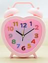 (Couleur aleatoire) etudiants petite reveil regarder creative horloge de chevet enfants adorables coeurs de bande dessinee horloge