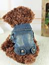 Chien Vestes en Jean Bleu Vetements pour Chien Hiver Printemps/Automne Jeans cow-boy Mode