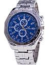 Bărbați Ceas La Modă Ceas de Mână Quartz / Oțel inoxidabil Bandă Cool Casual Argint Alb Negru Albastru