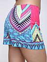 Mulheres Calcas Casual Shorts Poliester Micro-Elastica Mulheres