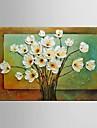 Peint a la main Abstrait Paysage Nature morte Fantaisie A fleurs/Botanique Peintures a l\'huile,Style europeen Moderne Pastoral Un Panneau