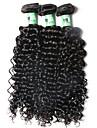3 Pieces Ondulation profonde Tissages de cheveux humains Cheveux Bresiliens Tissages de cheveux humains Ondulation profonde