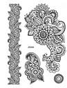 1 Tatouages Autocollants Series de fleur Non Toxic / Motif / Waterproof / Henne / MariageHomme / Adulte flash TattooTatouages