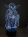 yoda touchez gradation 3d conduit de lumiere de nuit lampe atmosphere decoration 7colorful eclairage nouveaute lumiere de Noel