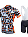 Fastcute® Cykeltröja med Bib-shorts Dam / Herr / Barns / Unisex Kort ärm CykelAndningsfunktion / Snabb tork / Fuktgenomtränglighet /
