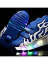 Pojkar Sneakers Sommar Rullskridskosko Tända upp Skor PU Fritid Platt klack LED Blå Gul Röd Annat