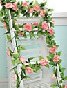 """1 Une succursale Polyester Plastique Roses Guirlande et Fleur Murale Fleurs artificielles 250 (98.4"""")"""