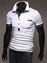 Men\'s Short Sleeve Polo,Cotton Casual / Sport Patchwork