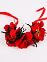 ウェディングブーケ ハンドタイド バラ リストブーケ 結婚式 パーティー ・夜 ポリエステル シフォン フォーム 3.94inch(約10cm)