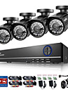 SANNCE 8CH 960H HDMI DVR 800TVL Outdoor CCTV Home Security Camera System HD