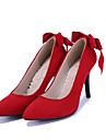 Homme-Mariage / Decontracte / Soiree & Evenement-Noir / Rouge-Talon Aiguille-Talons / Bout Pointu-Chaussures a Talons-Similicuir