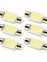 10x 36mm 3w LED COB 200lm 6000k froide lumiere blanche coupole feston lampe de lecture de l\'ampoule pour la voiture (12V DC)