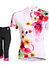 TASDAN® Cykeltröja med shorts Dam Kort ärm Cykel Andningsfunktion / Snabb tork / 3D Pad / Reflexremsa / Back Pocket / Svettavvisande