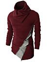 Bărbați Casul/Zilnic Simplu(ă) Regular Plover-Bloc Culoare Roșu / Negru Manșon Lung Guler Pe Gât Blană de Iepure Primăvară / Toamnă Mediu