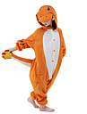 kigurumi Pyjamas New Cosplay® Dragon Collant/Combinaison Fete / Celebration Pyjamas Animale Halloween Orange Mosaique vison de velours