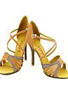 latin anpassnings kvinnors sandaler satin och konstläder dansskor (fler färger)