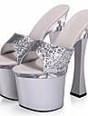 Femme-Mariage Decontracte Soiree & Evenement-Argent-Plateforme-A Plateau Escarpin Basique club de Chaussures Light Up Chaussures-