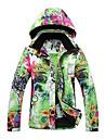 Femme Veste de Ski Garder au chaud Pare-vent Vestimentaire Polyester Tenue de Ski Tenue d\'Hiver Camping / Randonnee Sports de neige Ski