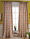 Två paneler Fönster Behandling Nyklassisistisk / Medelhavet / Europeisk / Rustik / Modern , Blommig/Botanisk / Löv Bedroom