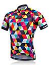 Fastcute® Maillot de Cyclisme Homme Manches courtes Velo Respirable Sechage rapide Anti-transpiration Maillot Coolmax ClassiquePrintemps