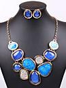 Set bijuterii La modă Sexy Albastru Colier / cercei Nuntă Petrecere Zilnic Casual 1set Coliere Σκουλαρίκια Cadouri de nunta