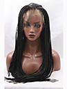 mode long lacet synthetique tresses droite avant perruque couleur noire sans colle femmes perruques
