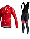 Miloto® Cykeltröja med Bib-tights Dam Lång ärm CykelHåller värmen / Snabb tork / Fleecefoder / Fuktgenomtränglighet / Kompression /