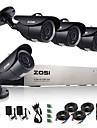 zosi®720p ahd 8ch cctv systeme de securite de surveillance de la maison dvr enregistrement 1tb hdd